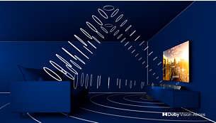 Dolby Vision og Dolby Atmos. Cinematic bilde og lyd.