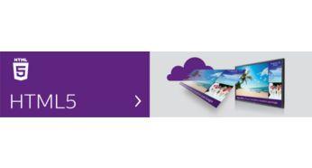 Navegador HTML5 integrado. Reproduce y controla el contenido en línea