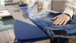 Гладьте любые ткани — от джинсовых до шелковых — без температурных настроек