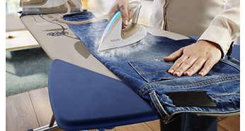 Likajte jeans ali svilo brez nastavljanja temperature