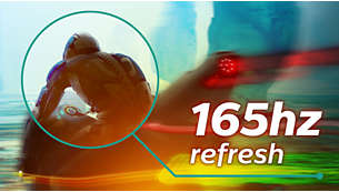 165Hz refresh rates for ultra-smooth, brilliant images