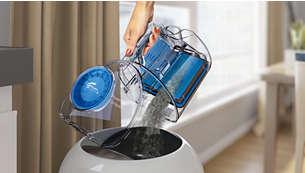 Facile da svuotare con una mano per gestire al meglio la polvere