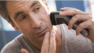 40minut bezdrátového holení po 8hodinách nabíjení