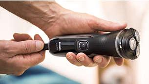 La carga rápida de 5 minutos proporciona energía suficiente para un afeitado completo