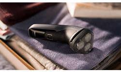 Защитная крышка поддерживает чистоту бритвенной головки между сеансами бритья