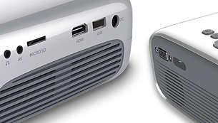 Entièrement connecté (HDMI, USB, VGA ou microSD)