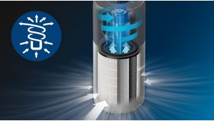 Cyrkulacja powietrza 3D dla szybkiego i wydajnego czyszczenia