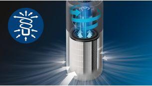 Recyrkulacja powietrza 3D dla szybkiego i wydajnego czyszczenia