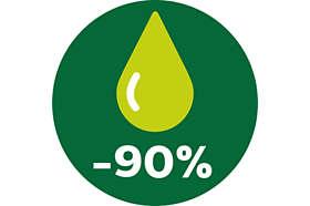 Používejte při smažení až o 90 % méně tuku