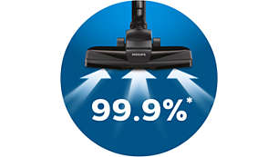99.9% dust pick-up* to deliver high-quality cleaning