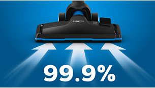 Yüksek temizlik performansı için %99,9 toz toplama özellikli*