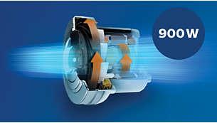 Motor de 900W con gran potencia de succión
