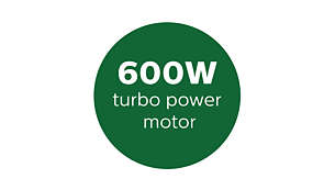 Powerful 600W motor tested for high endurance