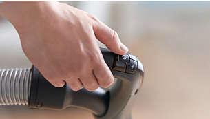 Uzaktan kumandalı ErgoGrip tutma yeri kolay hareket kabiliyeti sunar