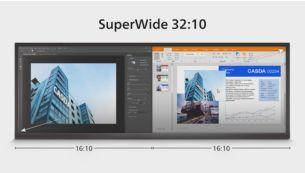 """32:10 """"SuperWide"""" ekranas sukurtas kelių ekranų sąrankoms pakeisti"""