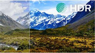 透過 HDR 體驗更優異的影像對比、色彩及清晰度