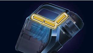 La batterie lithium-ion offre jusqu'à 70minutes d'autonomie