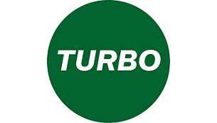 Función turbo para una mayor potencia