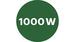 Powerful, yet energy efficient 1000 W motor