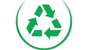Fabriqué avec plus de 75% de plastiques recyclés pour les pièces sans contact alimentaire