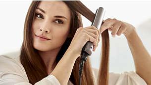 Delikatne ustawienie temperatury umożliwiające poprawienie fryzury