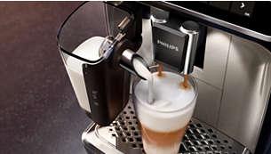 Yüksek hızlı LatteGo sistemi sayesinde yumuşacık süt köpüğü