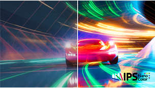 IPS Nano color technology extends gamut for vibrant visuals
