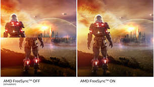 AMD FreeSync™ Premium – smidig spelupplevelse utan hack eller screen tearing