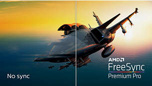 AMD FreeSync™ Premium Pro; smooth, low latency HDR gaming