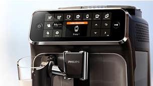 Egyszerűen kiválaszthatja kávéját az intuitív kijelzővel