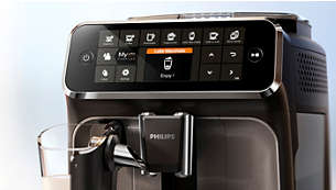 Easy selection of your coffee with the intuitive display