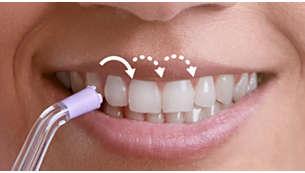 La tecnologia Pulse Wave ti guida da un dente all'altro