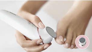Lixa para pedicure com disco rotativo para pés macios
