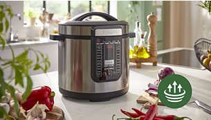 Superior power with 35% faster cooking