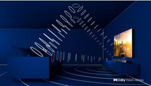 3.1.2-geluidssysteem. Naar boven gerichte luidsprekers voor Dolby Atmos.