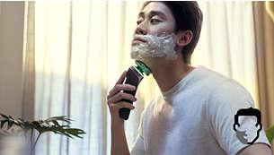 Rasatura su pelle bagnata, asciutta e persino sotto la doccia