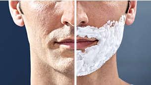 可濕剃或乾剃,甚至於淋浴時使用