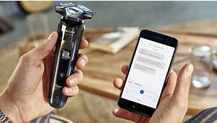 Enhanced shaving experience with app
