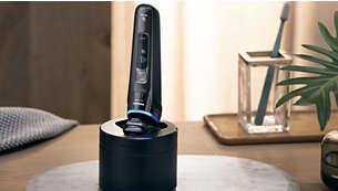 Limpieza a fondo en solo 1 minuto para obtener un afeitado higiénico