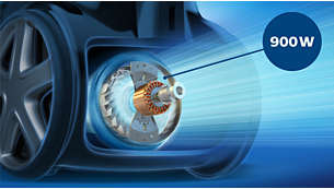 מנוע 900W מספק כוח יניקה עוצמתי