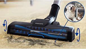 Turboborste – perfekt för att rengöra hår (från husdjur) och ludd