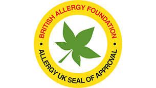 Allergy UK onaylıdır