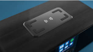Wireless Qi charging pad. USB port