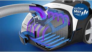 Rivoluzionaria tecnologia AirflowMax per una potenza di aspirazione straordinaria