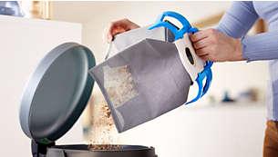 كيس غبار قابل لإعادة الاستخدام، لاستخدامه بسهولة تامة