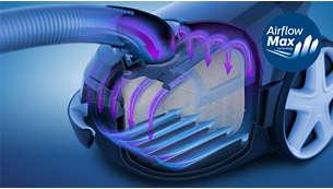 Revolusjonerende AirflowMax-teknologi for kraftig sugeeffekt