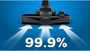99,9% støvoppsamling* gir deg høy rengjøringsytelse