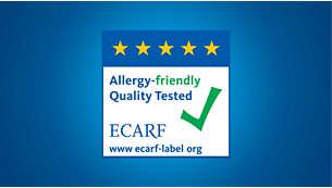 Sertifisert allergivennlig av ECARF.