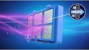 Das AllergyH13-Filtersystem fängt mehr als 99,9% Feinstaub auf