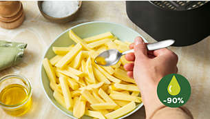 Fry with up to 90% less fat*